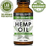Hemp Oil 30,000mg - Premium Extract Formula for Pain Relief, Anxiety, Depression