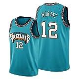 Ja Morant # 12 Vancouver Grizzlies Basketball T-Shirt aus echtem Jersey Basketballkleidung Herren Kindertrikot Erwachsenen Universal Blue-XXL
