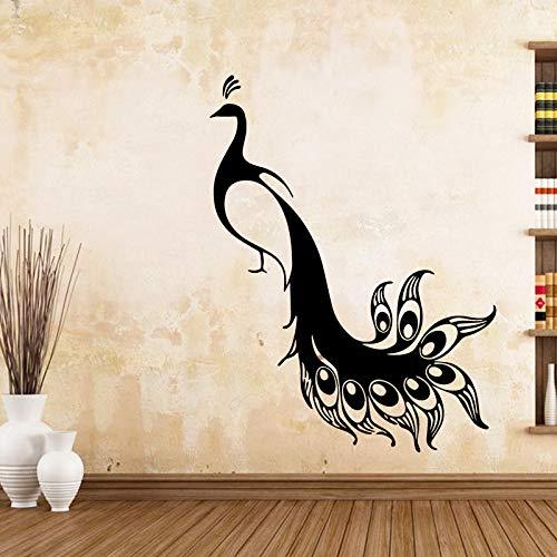BFMBCH Stilvolle Pfau Wandaufkleber Wandkunst Aufkleber Moderne Wohnzimmer für Kinderzimmer Dekoration Entfernbare Wandaufkleber A2 43 cm X 56 cm