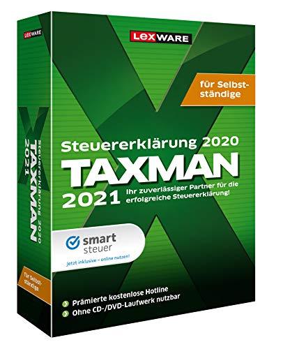 Preisvergleich Produktbild Lexware Taxman 2021 für das Steuerjahr 2020 / Minibox / Übersichtliche Steuererklärungs-Software für Selbstständige,  Gründer und Unternehmer / Standard / 1 / 1 Jahr / PC / Disc
