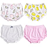 Soft Baby Underwear for Toddler Girls Cotton Training Pants Pack of 4 (100cm (2-3Y), Color B)