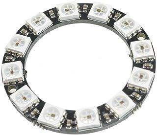 Comidox 1PCS 12 Bit WS2812 WS2812B Full Color 5050 RGB Lamp Panel Round LED Ring Lamp Light