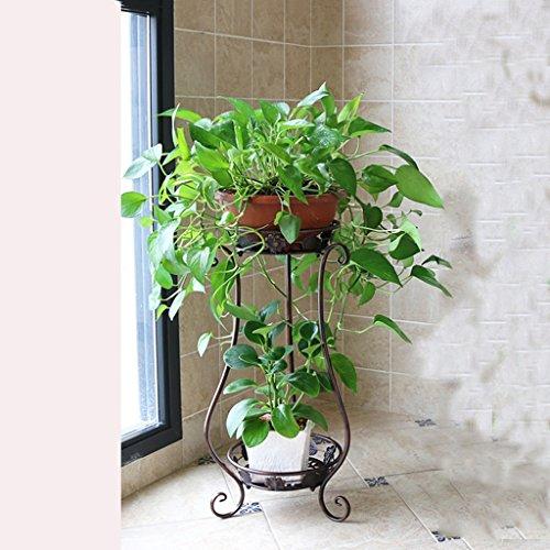Yu Chuang Xin Balcon à fleur de style européen Fer à repasser à plusieurs étages Salon de jardin Pots de fleurs de radis verts à l'intérieur de la terre Rayonnage à plantes Rayonnages Bronze