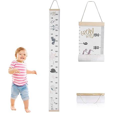 H/ängendes Messlineal f/ür Babyzimmer Dekor und Kinderzimmer Dekoration 20 x 200 cm Einhorn Baby Messlatte f/ür Wand abnehmbare Messlatte f/ür Kinder