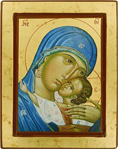 Ferrari & Arrighetti Icono bizantino de la Virgen de la Ternura de Vladimir - 19 x 24 cm