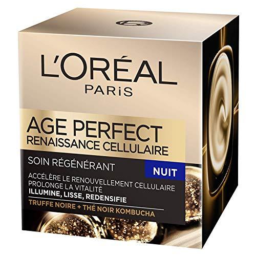 L'Oréal Paris - Age Perfect - Renaissance Cellulaire - Soin Nuit Régénérant - Anti-Relâchement & Vitalité - Peaux Matures - 50 mL