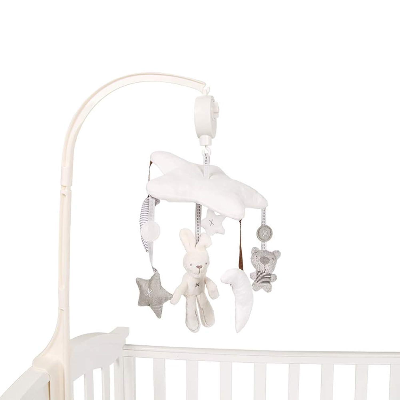 TINYPONY ベッドメリー オルゴール 人形付き ベビー 手巻き式 子供用寝具 出産祝い ブラケット