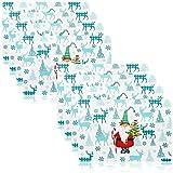 com-four® 8X Sets de Table XL pour Noël - Sets de Table avec Motifs de Noël - Tapis d'espace pour la Cuisine et la Salle à Manger - Set de Table