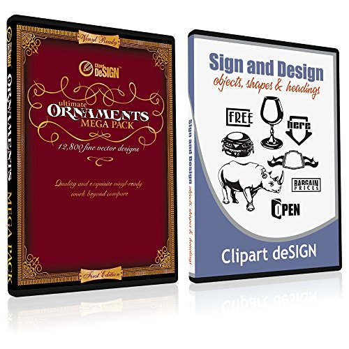 Sign Clipart, Design Elements, Scrolls, Floral, Flourishes, Ornamental Panels Frames Vinyl Cutter Plotter Vector Clip Art Images, Graphics on CD [includes Sign