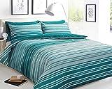 Sleep Down King - Juego de Funda nórdica (algodón), Color Verde Azulado