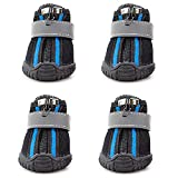 URBEST Dog Boots, 4 Pcs Pet Antiskid Sport Shoes, All-Season Sneakers, Puppy Dog Shoes, Outdoor Paw Protectors for Small Dogs (3#, Black)
