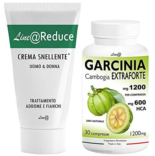 GARCINIA CAMBOGIA EXTRAForte 1200mg per CPR + CREMA SNELLENTE Reduce Line@ Addome e Fianchi !