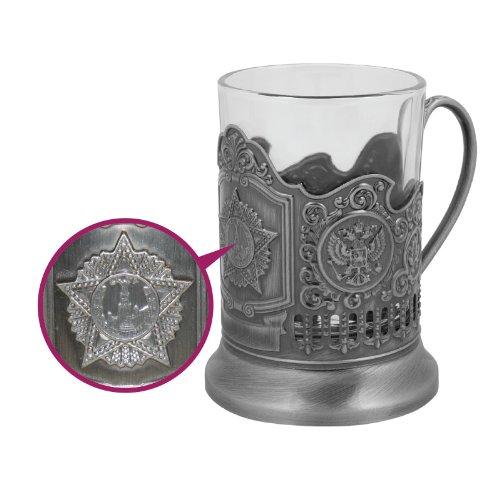 Teeglashalter mit Teeglas - Stern, 200 ml