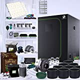 RXGrowKits Indoor Plant Growing Kit - Complete Package Includes 48'x48'x96' Grow Tent with 2X...
