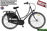 Pezier Omafiets Damenrad 28 Zoll schwarz 3 Gang mit Nabendynamo, 57 cm