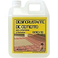 PEQUINSA DETERGENTE DESINCRUSTANTE Acido Limpiador DE Ceramica, Granito, Piedra Natural ETC.Elimina Tambien RESTOS DE Cemento. ENVASE 1 LITRO.