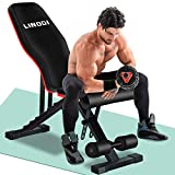 LINODI Weight Bench, Workout Bench for Home Gym, Adjustable Strength...
