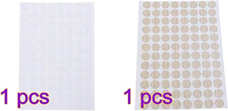Vosarea Tornillo Impermeable Cubre Orificios Antideslizantes Pegatinas Decorativas 15mm 96pcs 2 Hojas