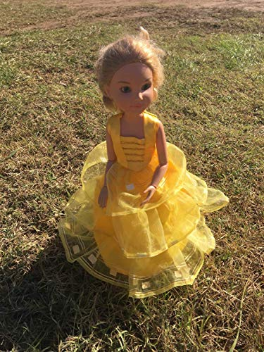 """Handmade for 18"""" BFC Ink Doll Clothes Best Friends Club Doll Clothes Princess Belle Party Prom Dress Costume Only (NO DOLL)"""