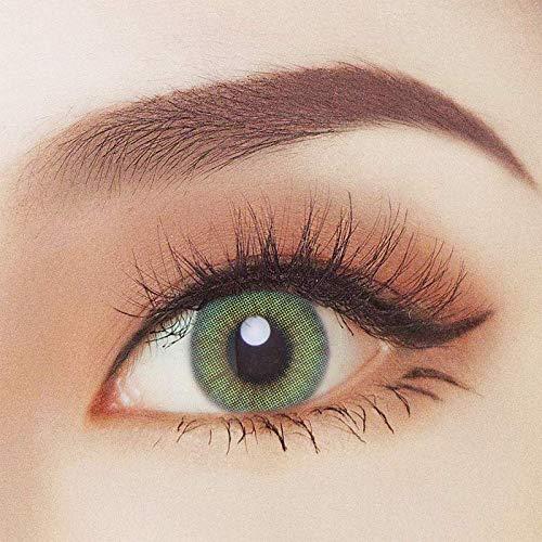 2 Grüne farbige Kontaktlinsen