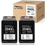 PINALL Cartucce d'inchiostro compatibili HP 304XL per HP DeskJet 2622 2633 2634 3720 3730 3733 3735 3750 3760 3762 3764A IOENVY 5010 5020 5030 5032 AIO (2 Nero)