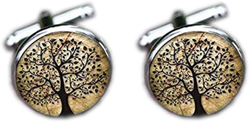 Bloody devil Wedding Cufflinks,Tree of Links Cuff Life 2021new shipping Limited time for free shipping free Lif