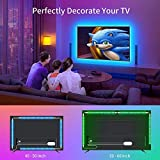 Zoom IMG-1 backture striscia led multicolore 2m