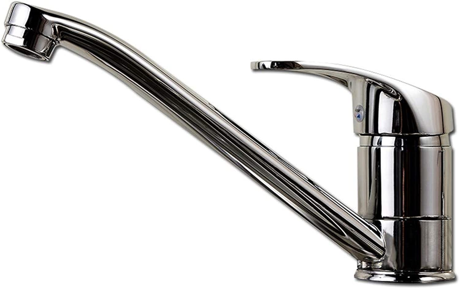 Cwill Kitchen Sink Basin Faucet Deck Mount Bright Chrome Washing Basin Mixer Kitchen Water Tap Water Faucet