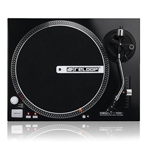 Reloop RP-1000M – DJ- und Hi-Fi Plattenspieler mit Riemenantrieb, Pitch-Bereich (+/- 10%), schwarze-metallic