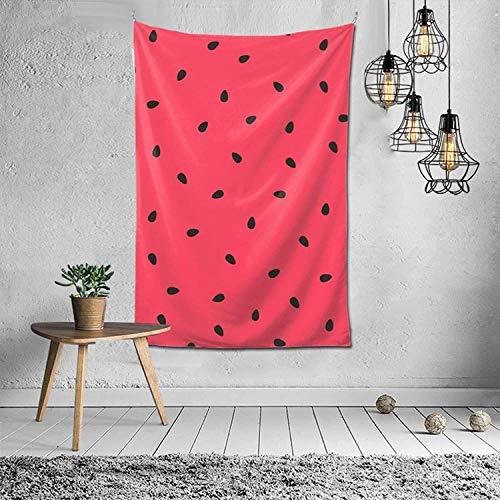 Tapiz de semillas negras de sandía, tapiz para colgar en la pared, manta de pared, arte de pared para el hogar, sala de estar, dormitorio, decoración de fiesta
