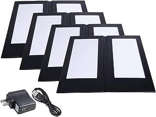 Yescom 4 Pack LED Backlit Menu Cover Leatherette Wine List Check Bill Holder Displayer 2-Panel 14