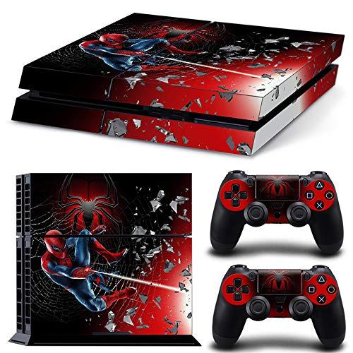 46 North Design Playstation 4 PS4 Folie Skin Sticker Konsole Spider SuperHero aus Vinyl-Folie Aufkleber Und 2 x Controller folie