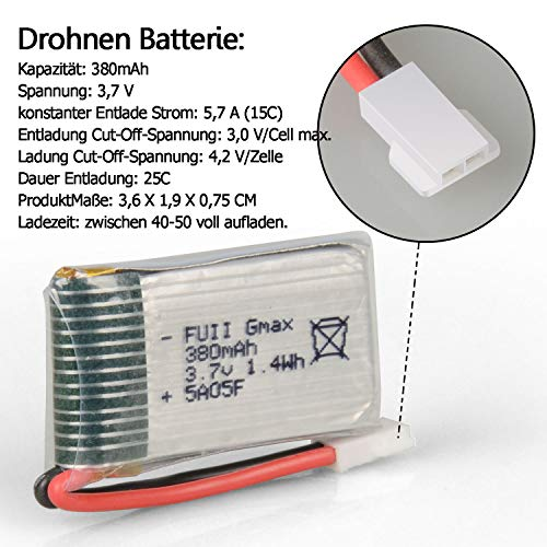 HYF STONE Lipo Battery 3.7V 380mAh 25C With 5in1 Battery