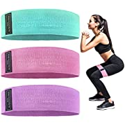 TSOL Resistance Bands Fabric Non-Slip for Legs and Butt, Workout Bands for Yoga,Home Fitness, Strength Training, Exercise for Squat/Glute/Hip/Thigh/Heavy