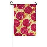 VinMea Pizza Summer Beachy Online Fall Outdoor Garden Flags All-Weather Polyester Diameter 8-12mm Emblemize
