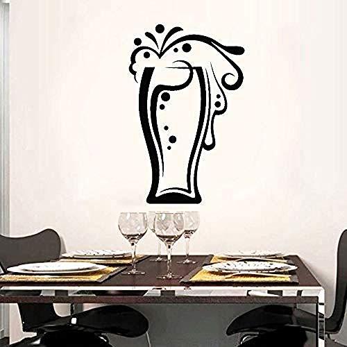 Gafas Colección de bebidas Jarra de cerveza Pegatinas de pared Vinilo de la cocina Interior del hogar Art Deco Pegatinas de pared 42X65cm