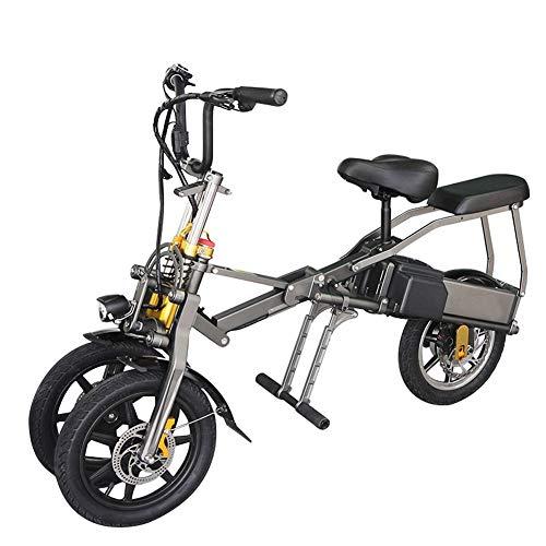 Bicicletas Eléctricas For Los Adultos, Plegable, de Aleación de Aluminio de Cuerpo, de 14 Pulgadas Pneumatic Tire, 36v/48v 10AH Batería de Litio Desmontable, 250/350W de Alta Potencia de Motor
