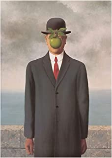 Picture Peddler The Son of Man Rene Magritte Weird Odd Creation Adam Eve Print Poster 19.75x27.5