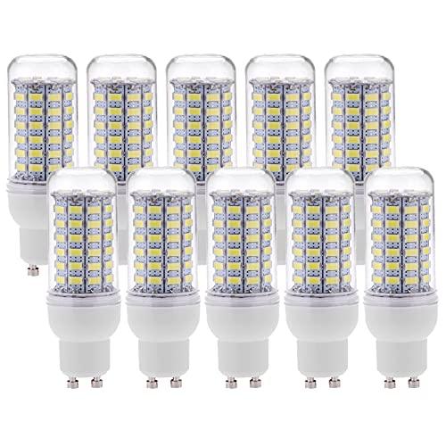 COMY Lampadine LED di Mais Candelabro a LED GU10 12W 1200 Lumen Bianco Freddo 6000k AC 110V/230V Non Dimmerabile lampadine a Risparmio energetico per casa - Pacco da 10,110v~140v
