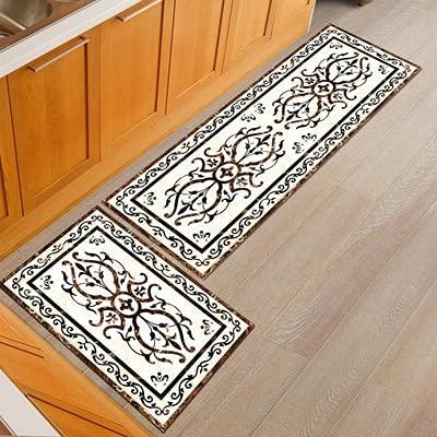 Alfombra moderna para piso de cocina, antideslizante, para el hogar, dormitorio, puerta, entrada, alfombra para casa, sala de estar, tamaño A9, 50 x 80 cm, 50 x 160 cm