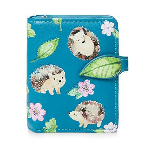 Shagwear ® Portemonnaie Geldbörse Damen Geldbeutel Mädchen Bifold Mehrfarbig Portmonee Designs: (Igel/Hedgehog)