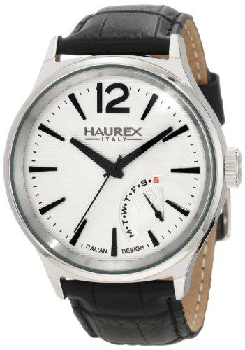 HAUREX ITALY Elegant Grand Class Silver Dial Watch #6A341US1- Orologio da uomo
