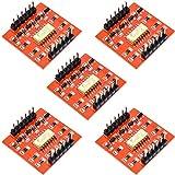 Youmile 5PACK Tarjeta de expansión TLP281 Módulo de optoaislador de 4 canales y 4 canales IC para placa de expansión Arduino Aislamiento de optoacoplador de alto y bajo nivel