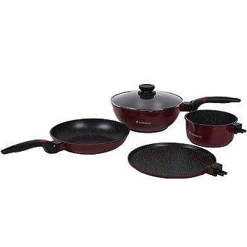 Wonderchef Click Amaze Cookware Set, 4-Pieces, Black