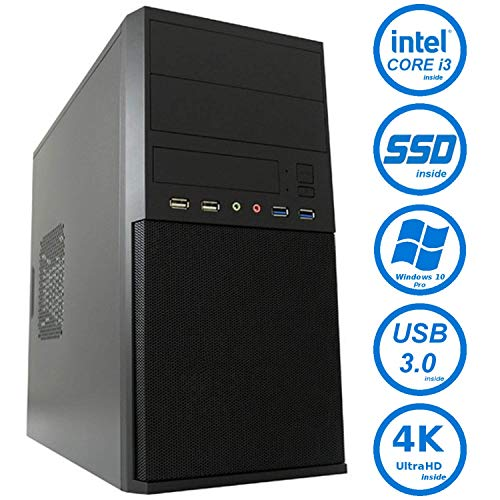 Master-PC Intel i3-8100, 8GB DDR4, 128GB SSD, Windows 10 Pro.
