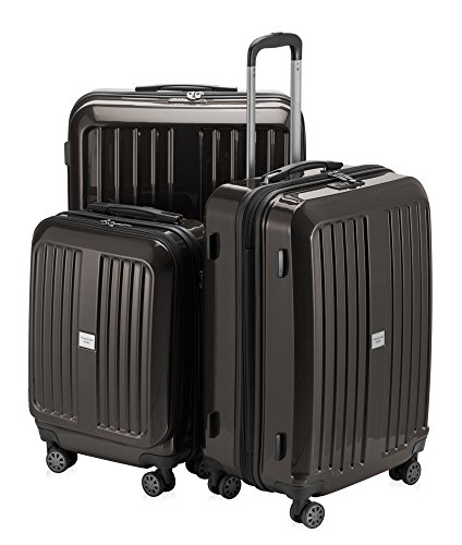 HAUPTSTADTKOFFER Luggage Sets Alex UP Hard Shell Luggage with Spinner Wheels 3 Piece Suitcase TSA (Graphite)