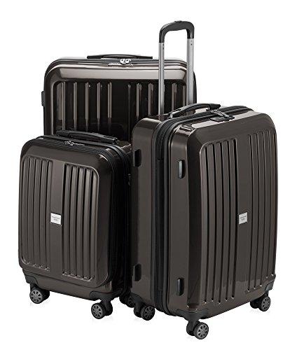 HAUPTSTADTKOFFER - X-Berg - 3er Koffer-Set Koffer Trolley Hartschalenkoffer, TSA (S, M, L ), Graphit
