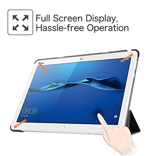 Fintie Huawei Mediapad M3 Lite 10 Hülle - Ultra Dünn Superleicht SlimShell Case Cover Schutzhülle Etui Tasche mit Zwei Einstellbarem Standfunktion für Huawei Mediapad M3 Lite 10 Zoll, Don't Touch - 4
