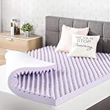 Best Price Mattress 3 Inch Egg Crate Memory Foam Topper, Mattress Pad with Soothing Lavender Infusion, CertiPUR-US Certified, King