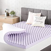 Best Price Mattress 3 Inch Egg Crate Memory Foam Mattress Topper with Soothing Lavender Infusion, CertiPUR-US Certified, King